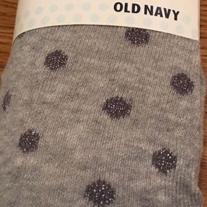 Gray Footed Silver Sparkle Polka Dot Girls Tights